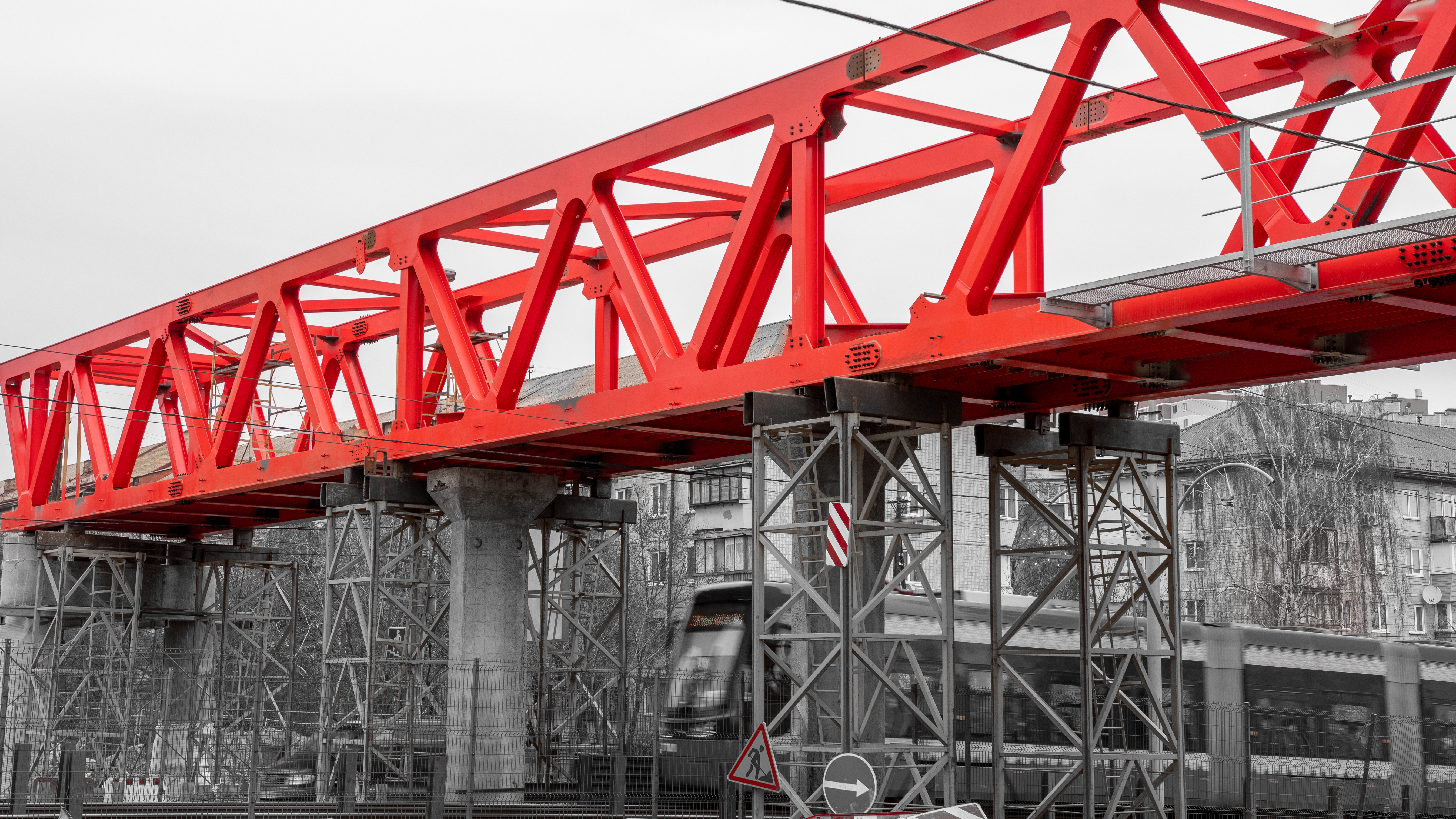 Pedestrian bridges in Kyiv, Junuary 2020