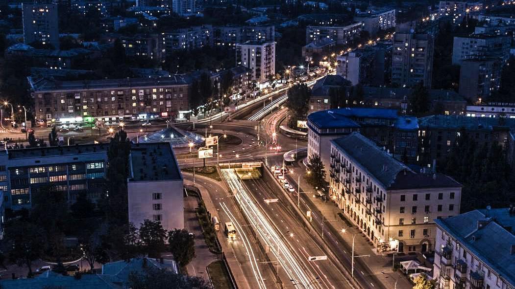 Transport interchange at Sevastopolska square