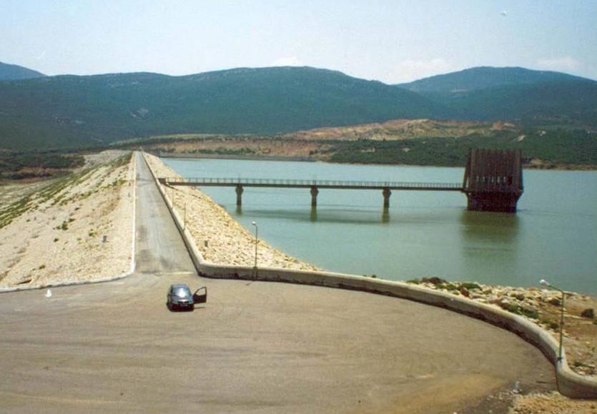 Dam on the river Sejnane in Tunisia